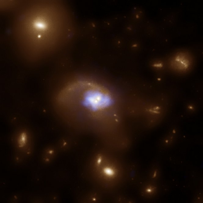 Evidence for a recoiling black hole