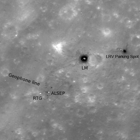 lunar landing sites visible from earth - photo #3