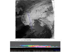 CloudSat detected large clouds and significant rainfall during a storm system that moved across New England on March 30, 2010