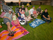 Dryden employees enjoy a JetHawks baseball game.