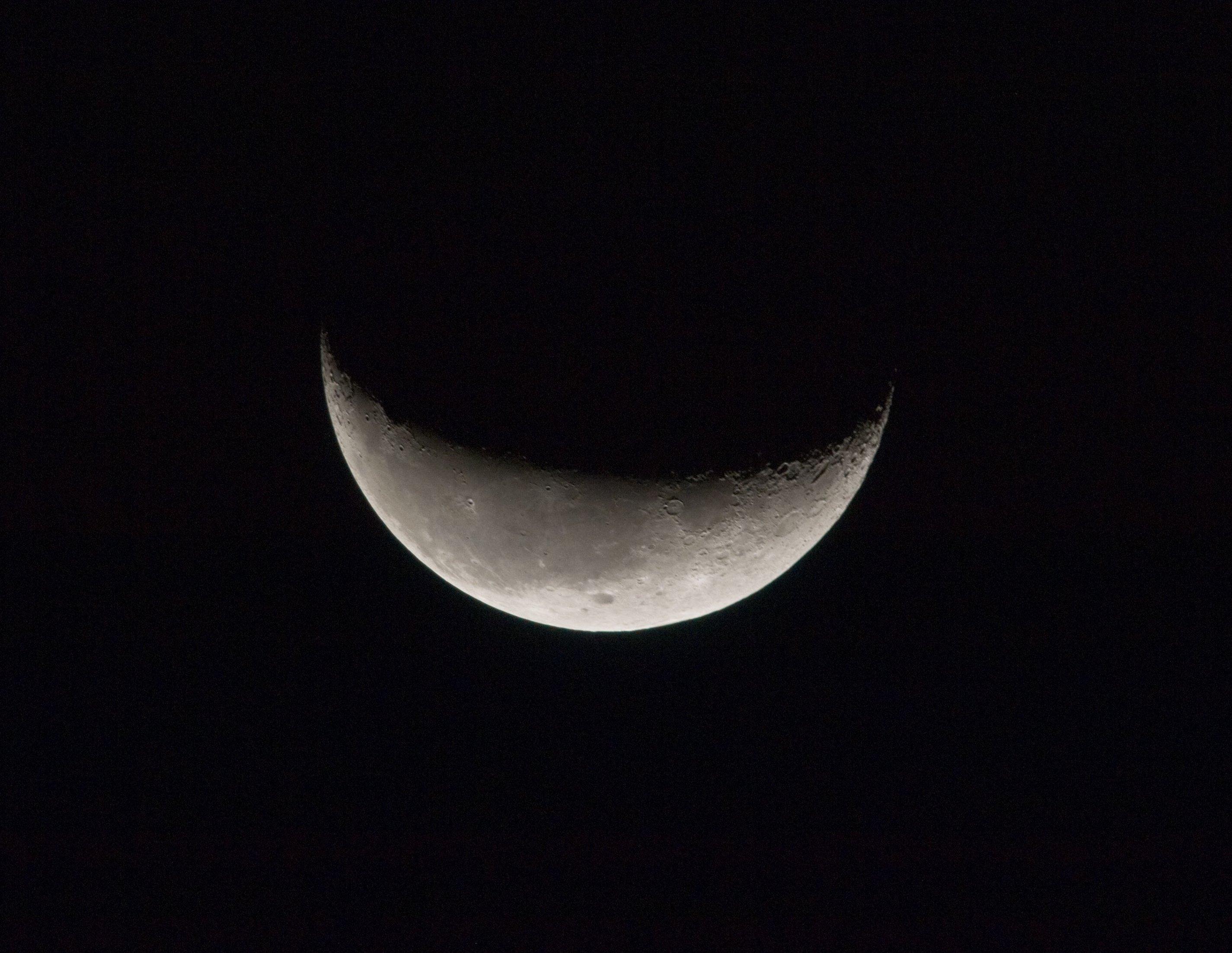 Moon Images Nasa a Crescent Moon Backdropped
