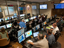 This image of the Global Hawk operations center was taken Sept. 2 during Hurricane Earl observations. The center has been busy during the GRIP - Genesis and Rapid Intensification Processes - missions.