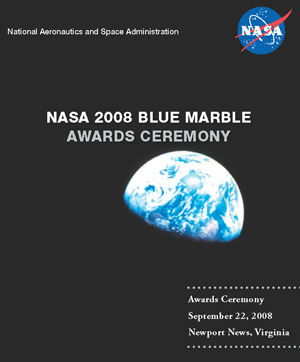 Cover of the 2008 Blue Marble Awards Program.