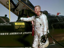 The late NASA research pilot Joe Walker flew 25 flights in the X-15 rocket plane, including two that qualified him for astronaut status in 1963.