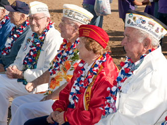 Members of the Pearl Harbor Survivors Association who survived the Japanese attack on Pearl Harbor in Hawaii on Dec. 7,1941 that plunged the United States into World War II were honored at the Veterans Day parade.