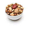 A bowl of unshelled nuts