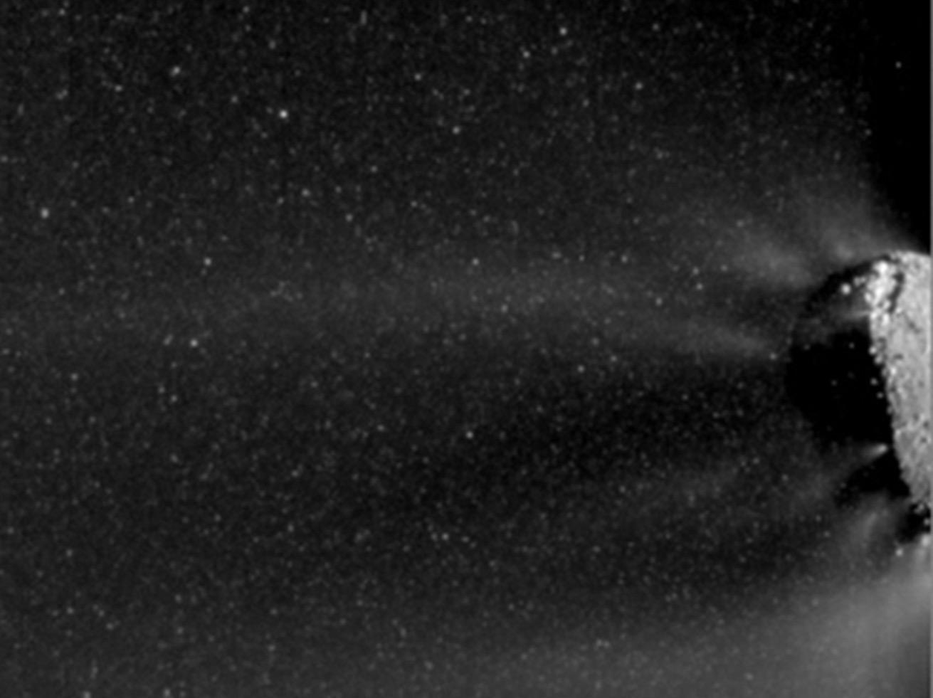 Icy Particle Spray   NASA