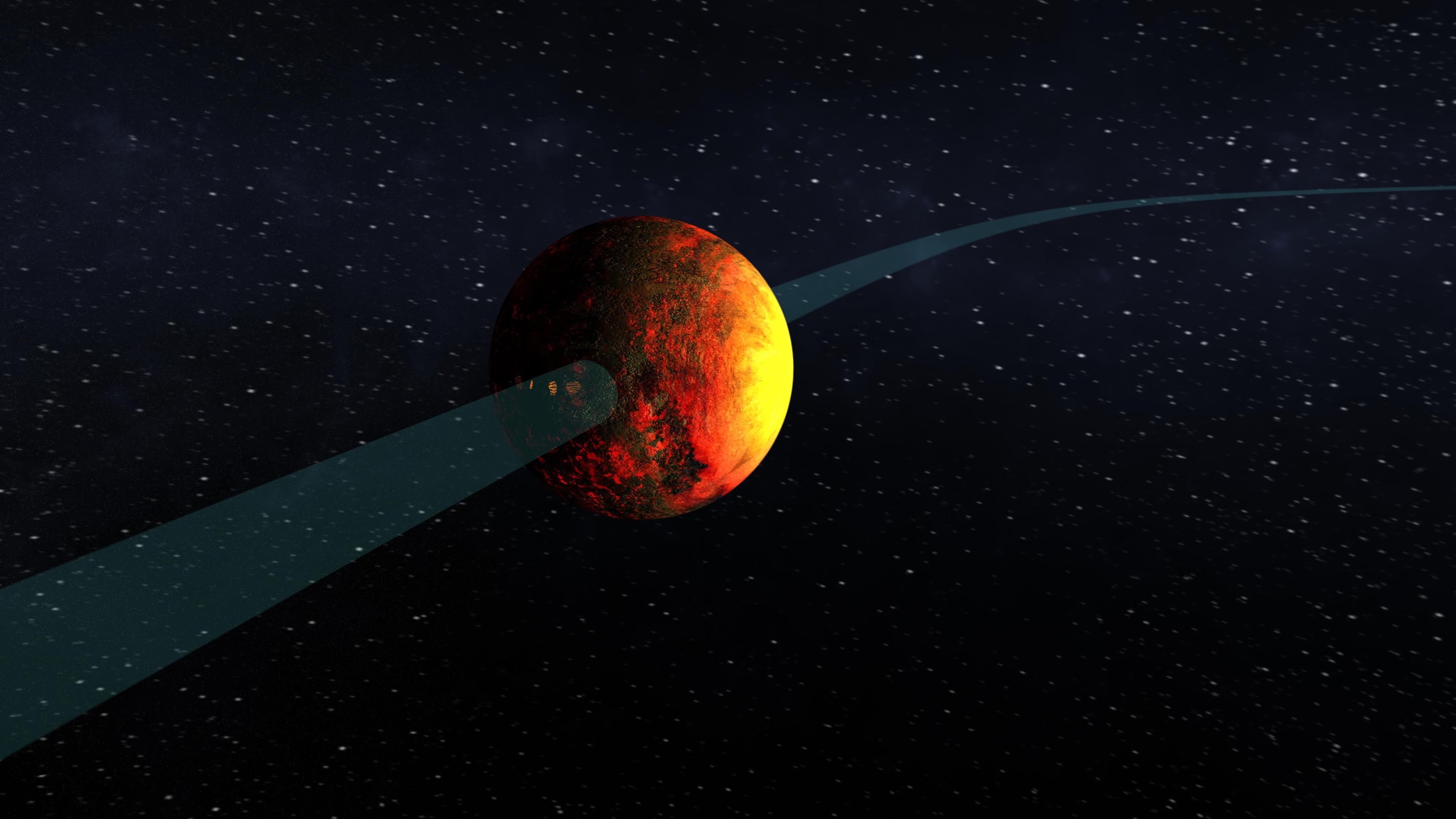Planet Kepler 10 B In Orbit Nasa