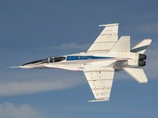 NASA's F/A-18 No. 853 validated through flight in December that a streamlined adaptive system could help an aircraft that has sustained damage to its flight control surfaces remain flyable. It also proved the aircraft's capabilities for a number of potential flight research projects.