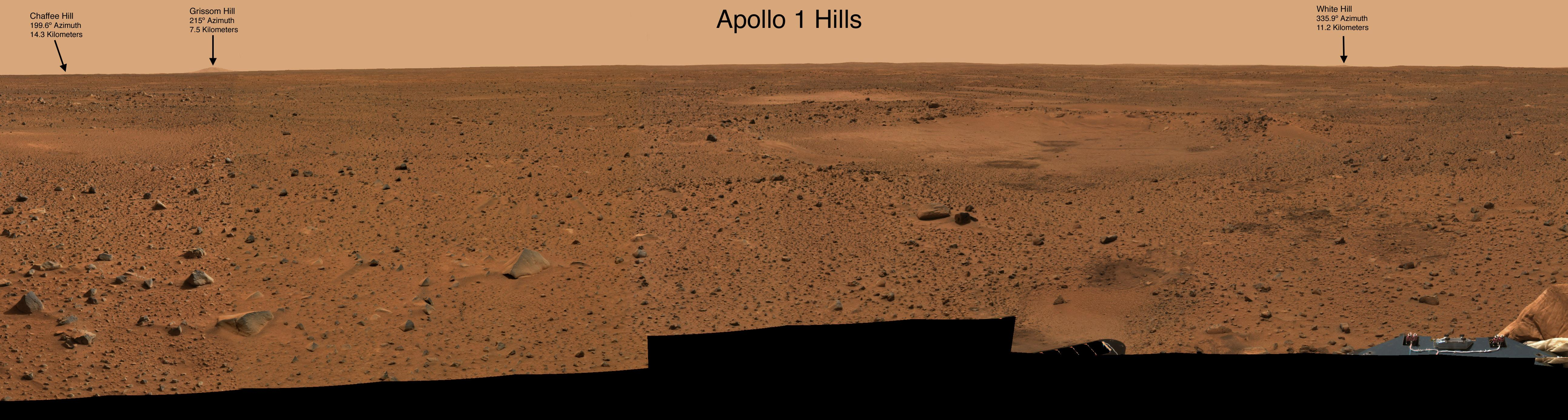 Mars Apollo 1 Hills