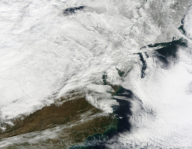 Modis satellite image of Jan. 27 snowstorm