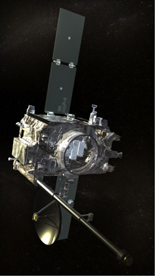 Artist rendering of STEREO spacecraft.