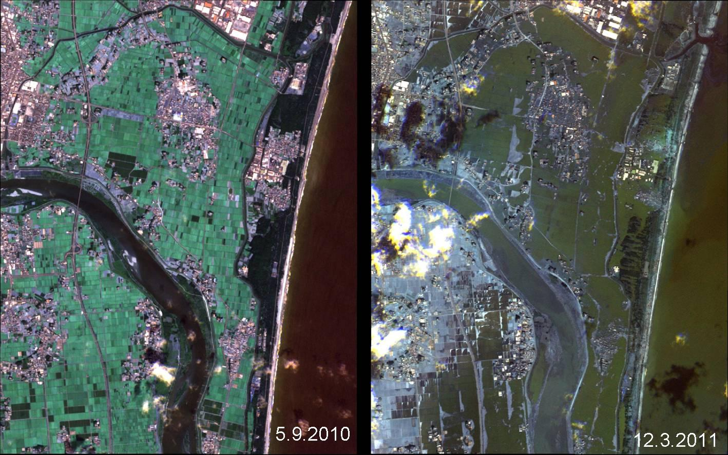 Japan's Coastline Before and After the Tsunami | NASA
