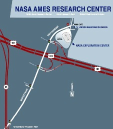 Map of NASA Ames Exploration Center