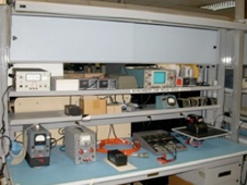 Time code generators and battery maintenance bench.