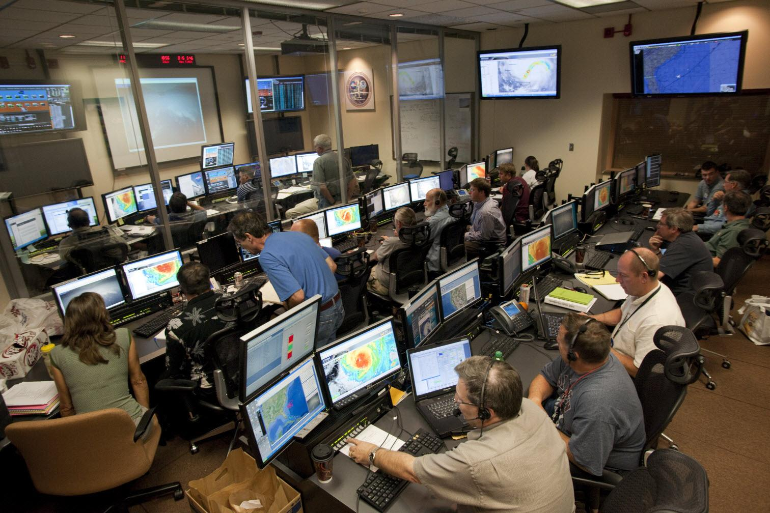 Global Hawk Operations Center During Grip Mission Nasa