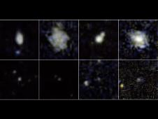Postage-stamp images taken by the ultraviolet-sensing telescope on NASA's Galaxy Evolution Explorer.