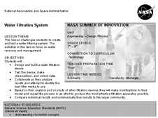Lesson Title Water Filtration System Nasa