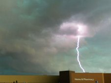 Lightning strike during tornado super outbreak of April 2011