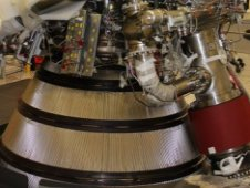 The nearly completed J 2X rocket engine prepares to leave Stennis Space Center, Miss.