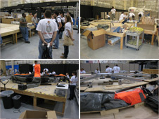 At NASA's Johnson Space Center, the Oklahoma State University (OSU) team receives B220 orientation and goes to work assembling their loft on a ground deployment platform. Photos credit: NASA