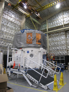 The OSU loft is installed on the HDU. Photo credit: NASA