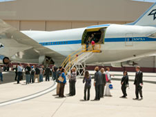 Media and special guests were permitted to go aboard the Stratospheric Observatory for Infrared Astronomy following an education and media day June 8.