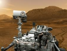 Artist concept of Mars rover Curiosity