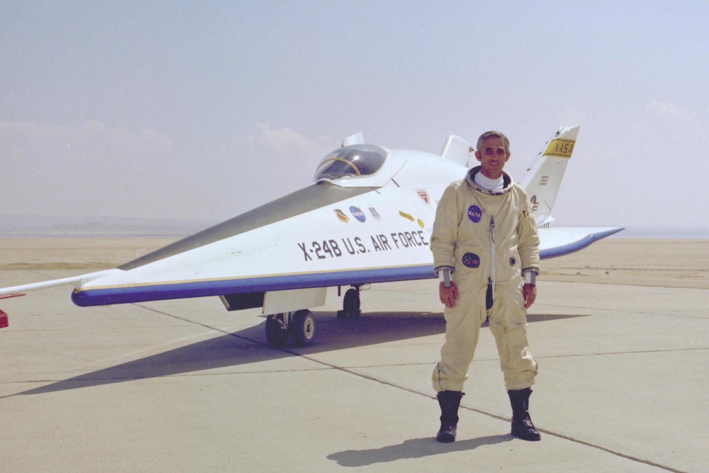 Nasa Research Pilot John Manke With X 24b Lifting Body Nasa