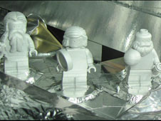 Three LEGO figurines