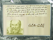 plaque dedicated to the famous astronomer Galileo Galilei