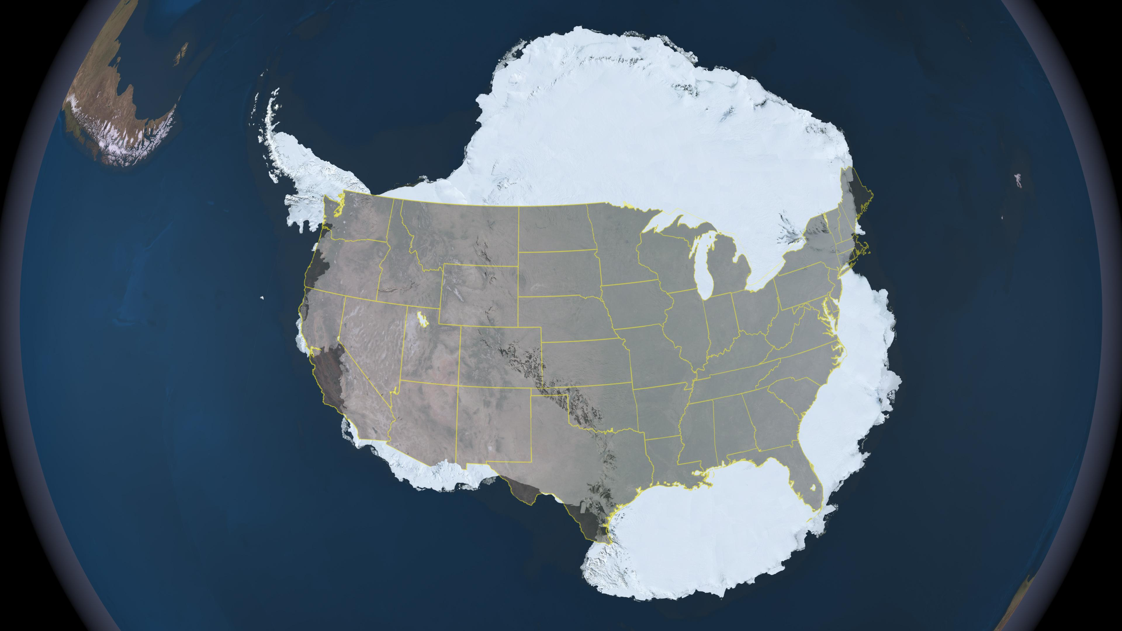 Compare the Size of Antarctica to the Continental United States NASA