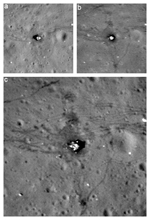 image comparing views of Apollo 17 landing site as seen by LRO
