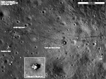 view of Apollo 17 landing site as seen by LRO