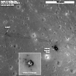 views of Apollo 14 landing site as seen by LRO
