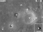 views of Apollo 12 landing site as seen by LRO