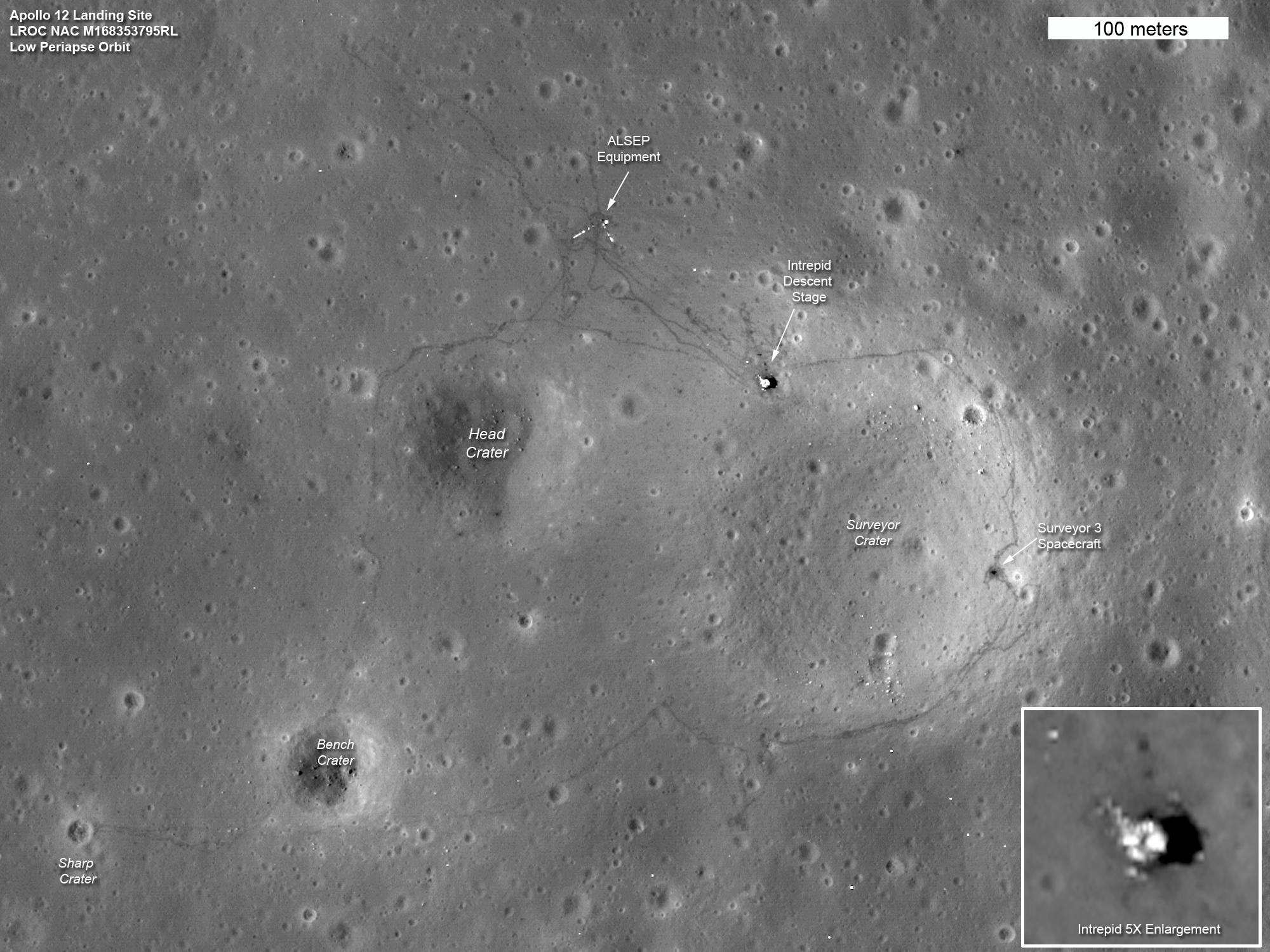 location moon map landing site apollo 12 - photo #19