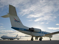 Dryden has obtained a Shuttle Training Aircraft. The NASA 747 Shuttle Carrier Aircraft is at left.