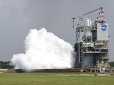 A 40-second test of the J-2X rocket engine Sept. 28, 2011