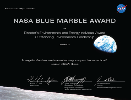 The Blue Marble Awards Nasa