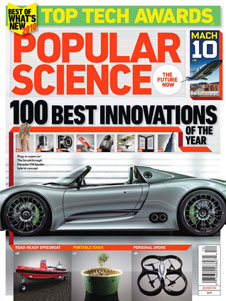 Popular Science December 2010 issue cover