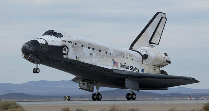 Discovery concluded missions at Edwards and Dryden 15 times, including this landing that wrapped up STS-128 on Sept. 11, 2009.