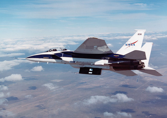 Dryden's F-15B test bed aircraft flew a series of flights in the Lifting Insulating Foam Trajectory, or LIFT, research as part of the center's contributions to NASA's return-to-flight activity.