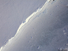 The Digital Mapping System aboard NASA's DC-8 flying laboratory captured this image of the Getz Ice Shelf in Antarctica.