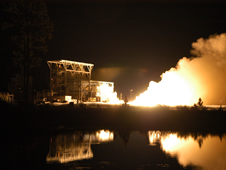NASA's John C. Stennis Space Center conducted a test firing on an Aerojet AJ26 flight engine Nov. 17.