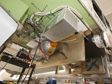 The Diode Laser Hygrometer, developed by Langley Research Center, is mounted in the Global Hawks payload bay in preparation for an atmospheric study of humidity and chemical composition.