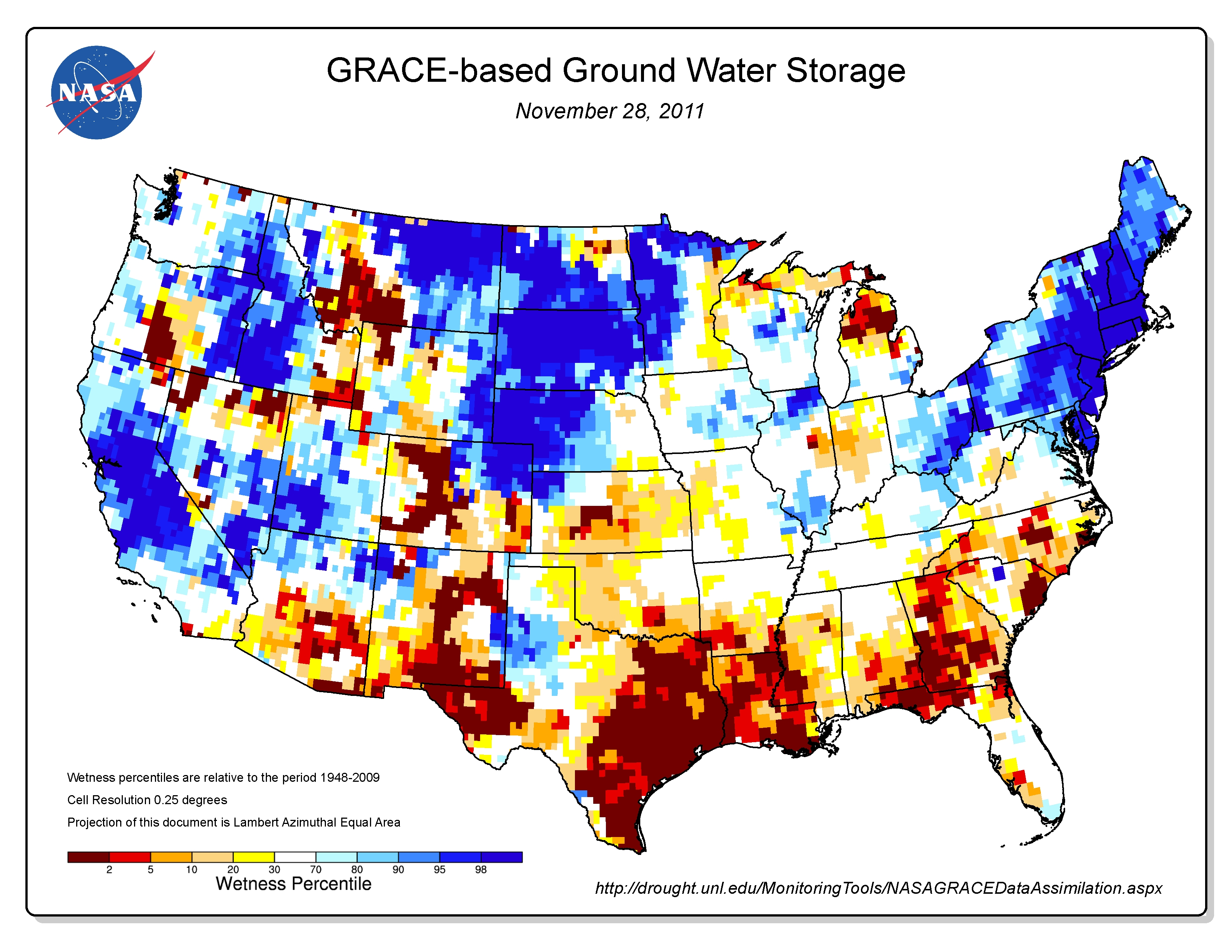 Texas Drought Visible In New National Groundwater Maps Nasa