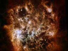 Large Magellanic Cloud galaxy in infrared light