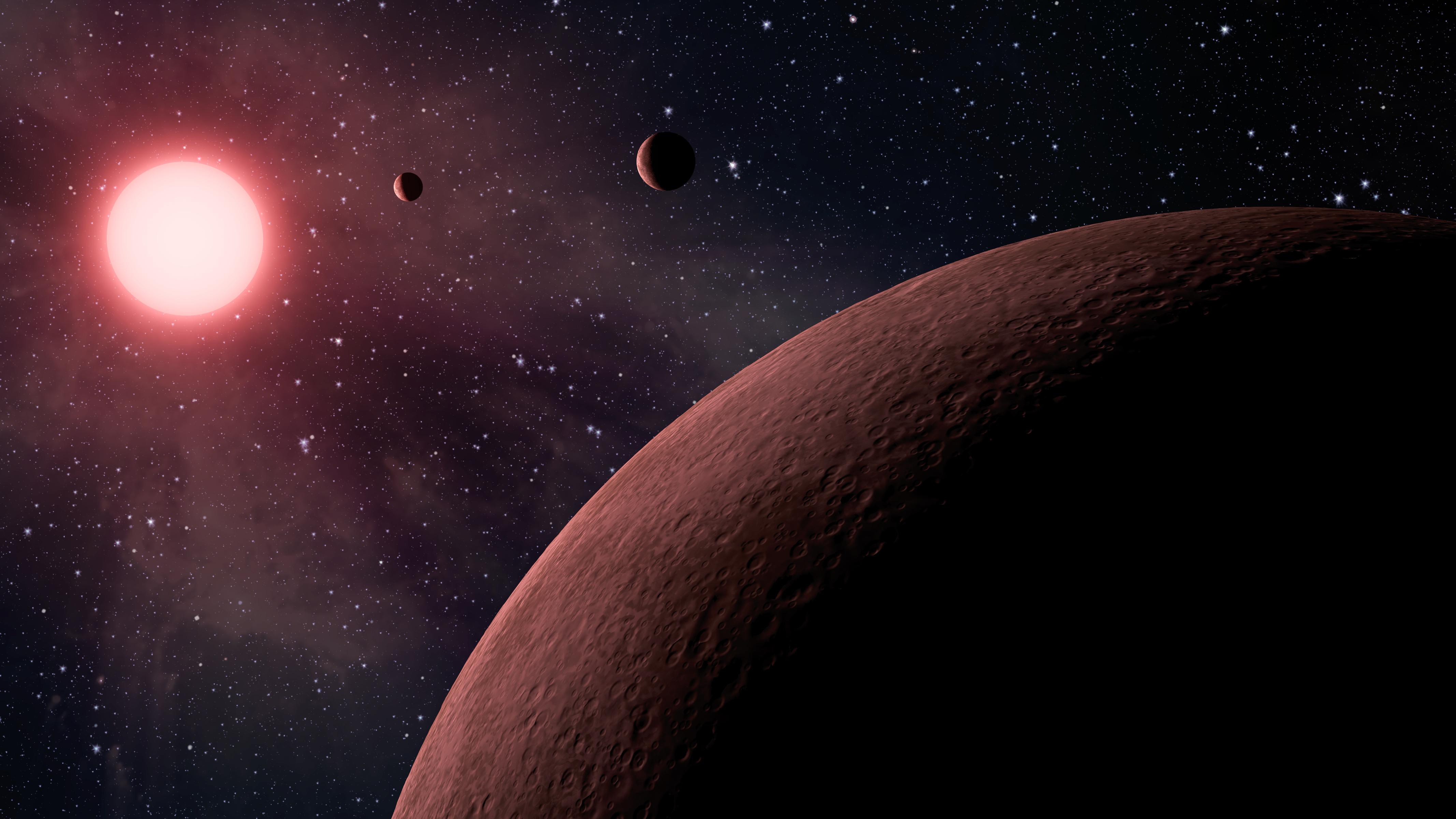 Mini Planetary System: This artist's conception illustrates KOI-961