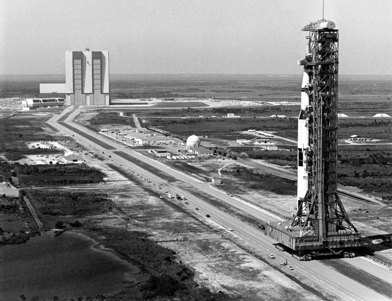 In 1969 Apollo 10 Rocket Rolls Out Nasa